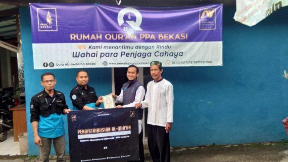 Distribusi Program infaq & Wakaf Quran Ke Santri RQ PPA Bekasi
