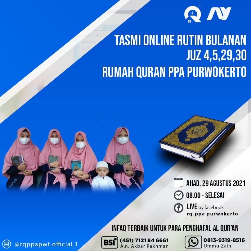 Tasmi' Al-Qur'an Santri Rumah Qur'an PPA Purwokerto